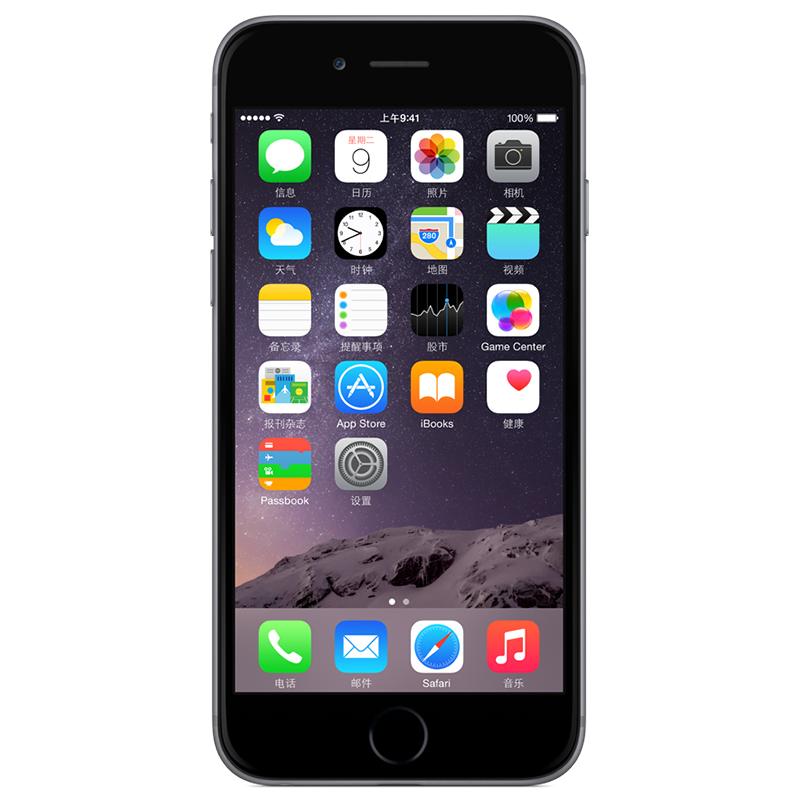 苹果(Apple) iPhone 6 MG4F2CH/A 64GB 全网通( 移动/联通/电信) 4G手机(深空灰)